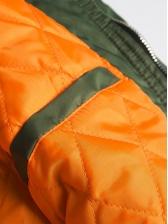 Fashion Ribbon Plastic Buckle Men Bomber Jacket
