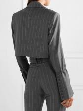 Striped Long Sleeve Boutique Ladies Suit