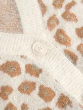 Leopard Printed Bottom Up Knit Cardigan