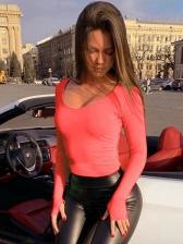 Solid Scoop Neck Long Sleeve Bodysuit