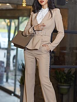 Minimalist Smart Waist Ladies Blazer With Belt