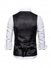 Single-Breasted v Neck Men Waistcoat