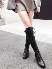 Black Bandage knee High Boots