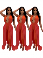 Sexy Solid Halter Jumpsuits For Women