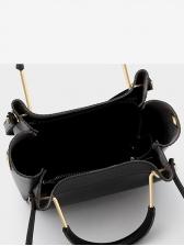 Minimalist Metal Splicing Handle Ladies Handbag