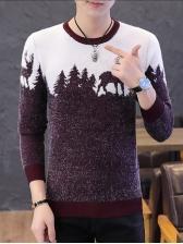Casual JacquardWeave Sweaters For Men