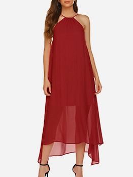 Summer Off Shoulder Spaghetti Strap Maxi Dress