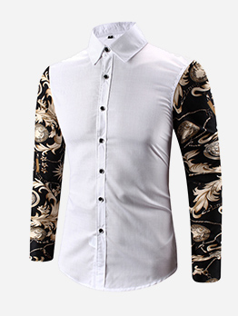 Youth Button Down Contrast Color Men Shirt