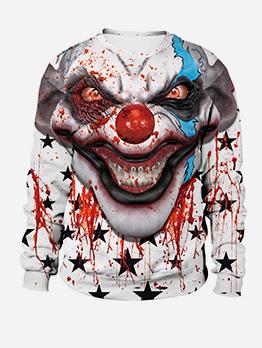 Halloween Bloody Clown Long Sleeve Sweatshirt
