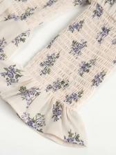 Vintage Square Neck Floral Summer Dresses