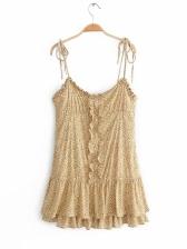 Stylish StringySelvedge Floral Slip Dress
