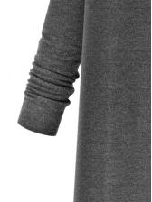 Solid Knitting Cardigan Long Coat Women
