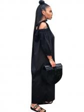 Solid Tie Shoulder Long Sleeve Jumpsuits For Women