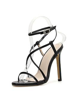Peep Toe Bandage Stiletto Summer Sandals