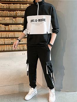 Leisure Hip-Hop Contrast Color Activewear