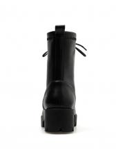 Fashion PU Tie Up Chunky High Heel Boot