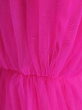 Sexy Strapless Gauze Blush Cocktail Dress