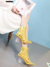 Transparent Perspex Chunky heel Boot
