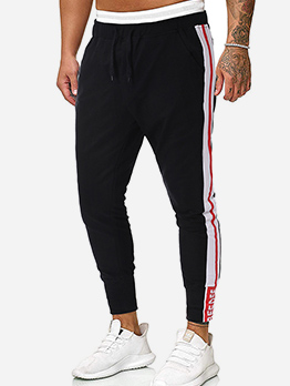 Youth Contrast Color Drawstring Jogger Pants