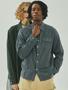 Stylish Striped Button Down Cotton Shirt