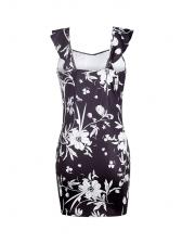Sleeveless Bodycon Printed Stringy Selvedge Mini Dress