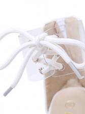 Bandage Transparent Plastic Wedge Sandals