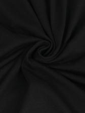 Crew Neck Tassel Hem Solid Short Sleeve Dress