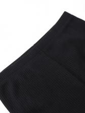 Solid V Neck Drawstring Long Sleeve 2 Piece Sets