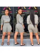 Solid Color Long Sleeve Casual 2 Piece Sets