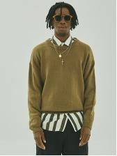 Loose Solid Fleece Crew Neck Sweater