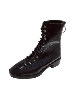 Fashion Square Toe Bandage Chunky Winter Boots