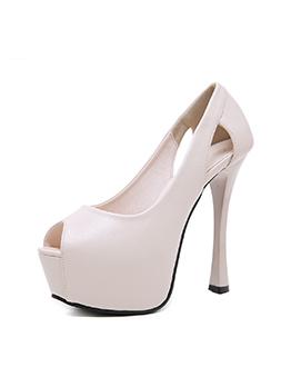Hollow Out Platform High Heels For Women