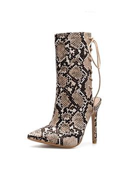 Animal Printed Barefoot Bandage High Heel Boot