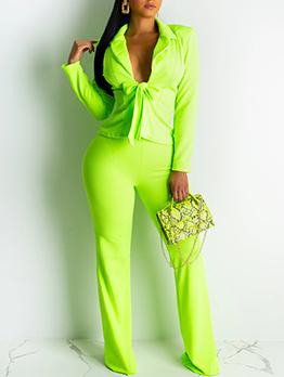 OL Style Bow Blazer Ladies Trouser Suits