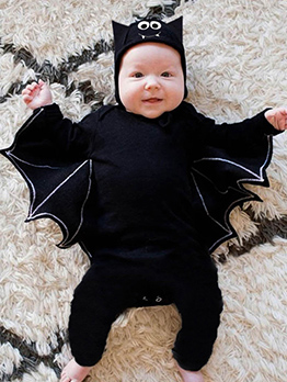 Baby Bat Pattern Sleepsuit Halloween Costumes