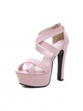 Peep Toe Hollow Out Stiletto Platform Womens Sandals