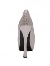 Peep Toe Sequined Super High Stiletto Women Pumps