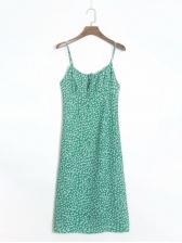 Stylish Floral Shoulder Strap Women Dresses