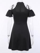 Dark Solid Halter Slip Summer Dresses