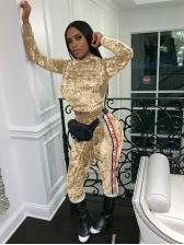 Velvet Patchwork Cropped Top Ladies Gym Wear