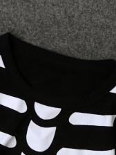 Halloween Skeleton Printed Long Sleeve Sleepsuit