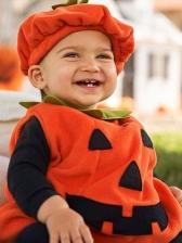 PumpkinSleeveless Top Hat Halloween Costumes For Kids