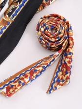 V Neck Tie-Wrap Vintage Printed Ladies Dress