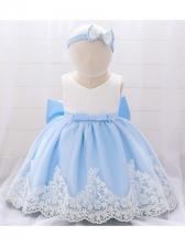 Stylish Gauze Patchwork Flower Girl Dresses