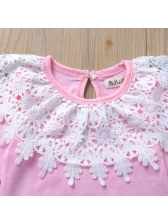 Cute Lace Patchwork Long Sleeve Baby Rompers