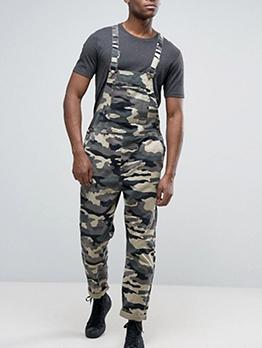 Camouflage Multiple Pockets Men Cargo Overalls