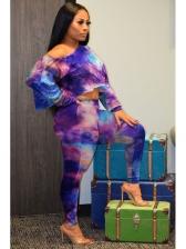 Tie Dye Long Sleeve 2 Piece Pants Set