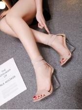 Bandage Peep Toe Perspex Slipsole Heel