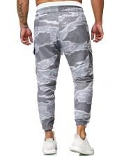 Fashion Printed Drawstring Pencil Trousers