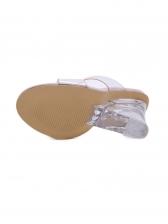 Transparent Peep Toe Slipper Wedge